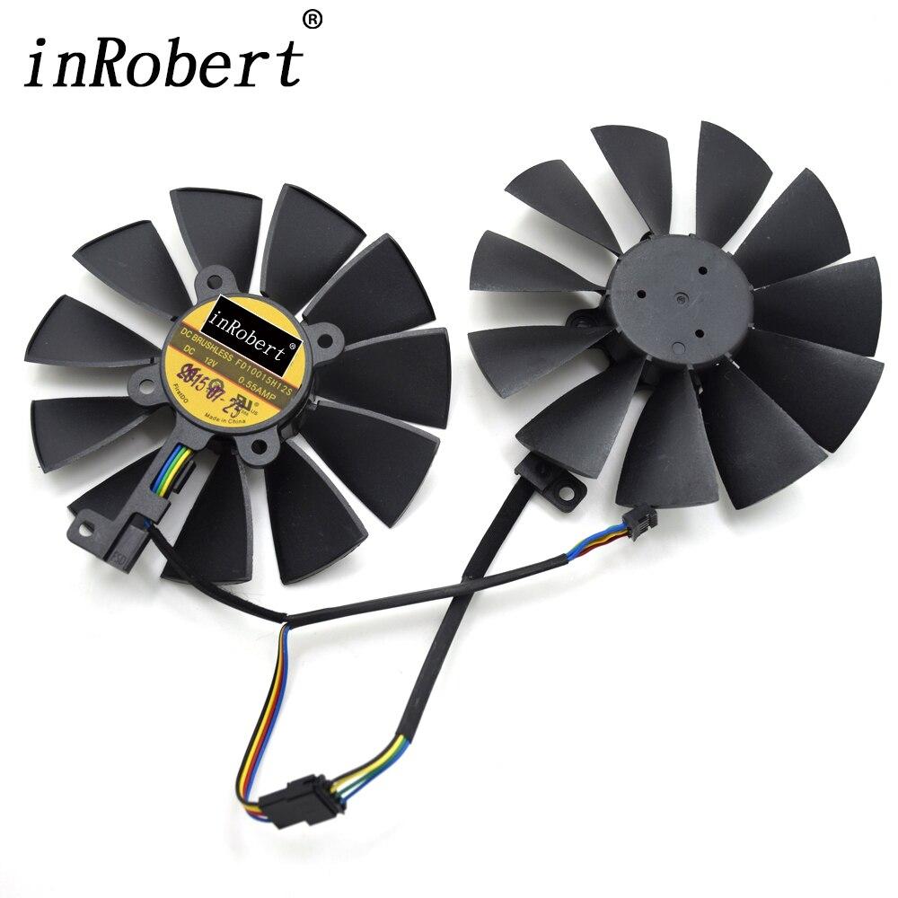 95mm FD10015H12S 0.55A 5Pin Refroidisseur Ventilateur Pour ASUS STRIX GTX 970 980 780 TI R9 380 Graphique Carte Vidéo ventilateur de refroidissement