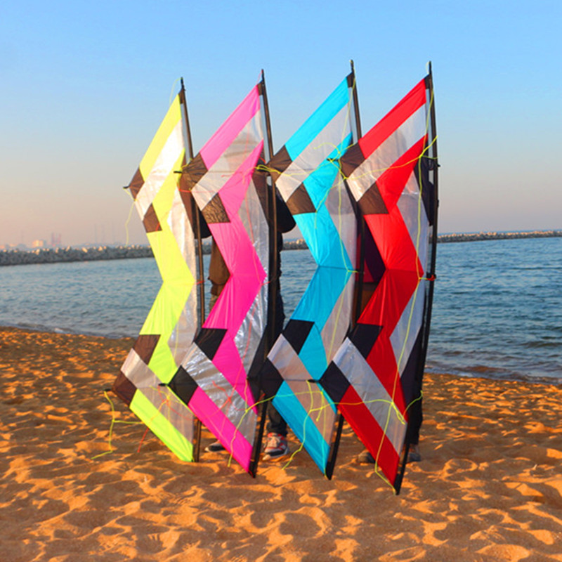 free shipping 2 1m REV quad line stunt kite flying toys for adults nylon ripstop fabric