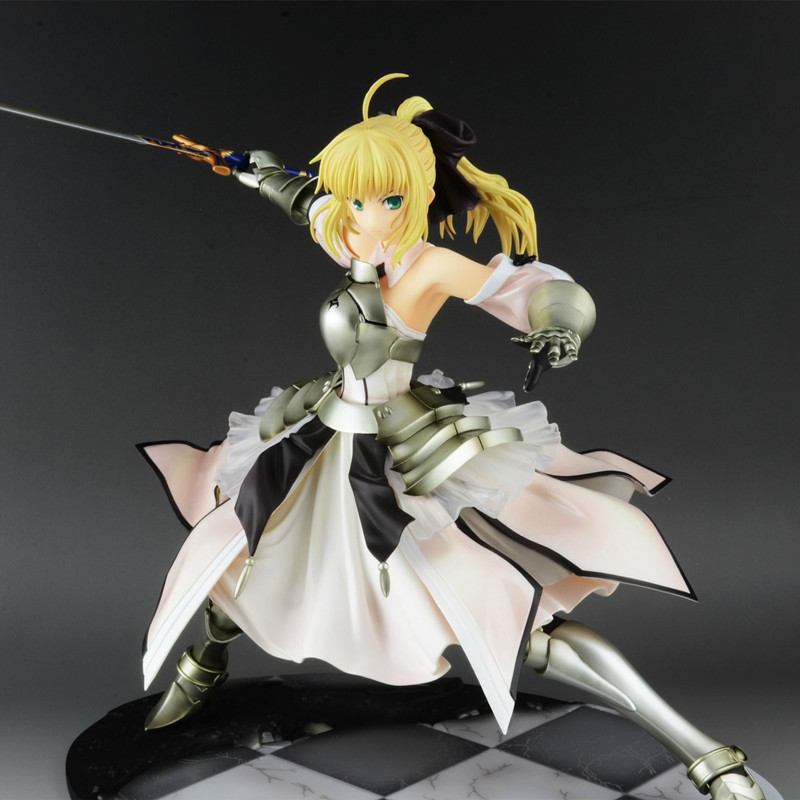 Fate Stay Night Saber Lily Avalon 1/7 Painted PVC action Figure Model Toy 23cm fate zero game figure model dolls Excalibur le fate топ