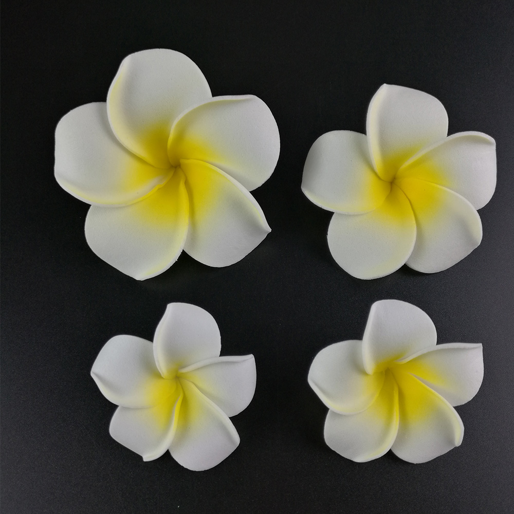 50pcs big 6cm plumeria hawaiian foam frangipani flower artificial 50pcs big 6cm plumeria hawaiian foam frangipani flower artificial silk fake diy flower for wedding party decoration orange color in artificial dried izmirmasajfo