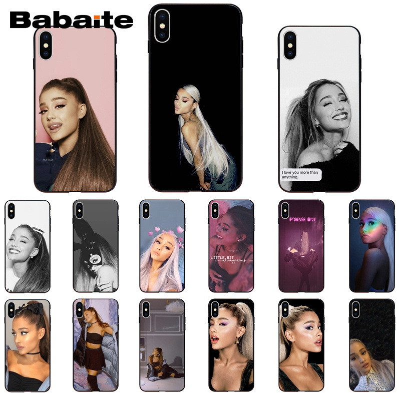 Babaite <font><b>Ariana</b></font> <font><b>Grande</b></font> Customer High Quality Phone <font><b>Case</b></font> for Apple <font><b>iPhone</b></font> 8 7 6 <font><b>6S</b></font> Plus X XS MAX 5 5S SE XR 11 11pro 11promax image