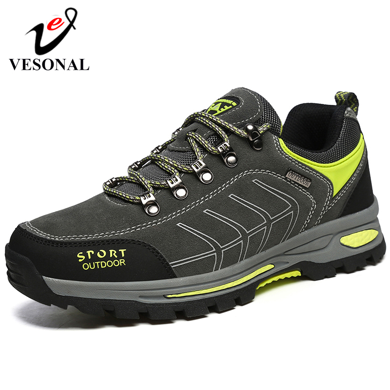 VESONAL Brand Suede Leather Men Shoes Male Adult Man Fashion Casual Shoes Outdoor Hiking Shoes Autumn Footwear Sneakers Men 579