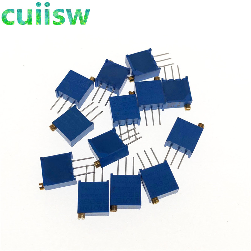 13 pçs/lote 3296 w multiturn kit potenciômetro aparador de alta precisão 3296 resistor variável kit 100r-1m ecah 1 pçs = 13 pçs