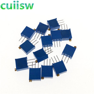 13Pcs/Lot 3296W Multiturn Trimmer Potentiometer Kit High Precision 3296 Variable Resistor kit 100R-1M ecah 1pcs=13PCS