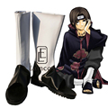Anime Naruto Uchiha Itachi Cosplay Halloween Christmas Party Shoes Black and White Peep Toe Fancy Boots Custom Made