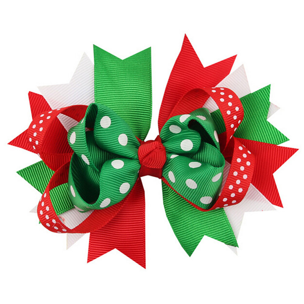 Low Price Christmas Decorations: HOT Lowest Price Christmas Ornaments Bowknot Hairpin
