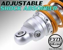 цена на Universal 11 280mm Motorcycle Air Shock Absorber Rear Suspension For Honda Yamaha Motor Scooter ATV Quad Gold Yellow D25