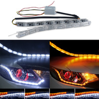 2pcs LED Strip Flexible Light Waterproof Daytime Running Lights DRL Switchback Turn Light Signal Bulb Lamp