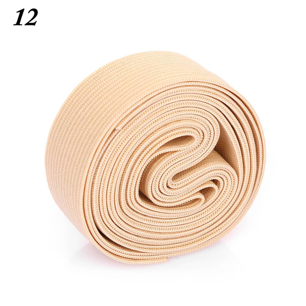 2 м/рулон многофункциональная эластичная лента плотная плетеная резинка из полиэстера шитье из кружева отделка ленты для талии аксессуары для одежды домашний текстиль - Цвет: 12