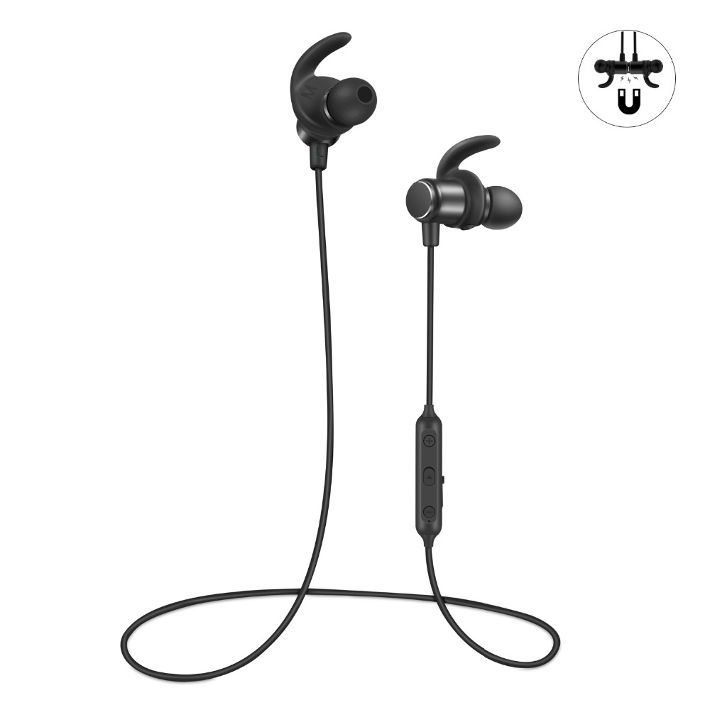 Wavefun Fit Sport Bluetooth Earphone Wireless Bass Headphones IPX5 Bluetooth Earbuds for iPhone android samsung xiaomi with Mic zomoea bass earphone earbuds running stereo sport bluetooth headset wireless headphones for iphone android with microphone