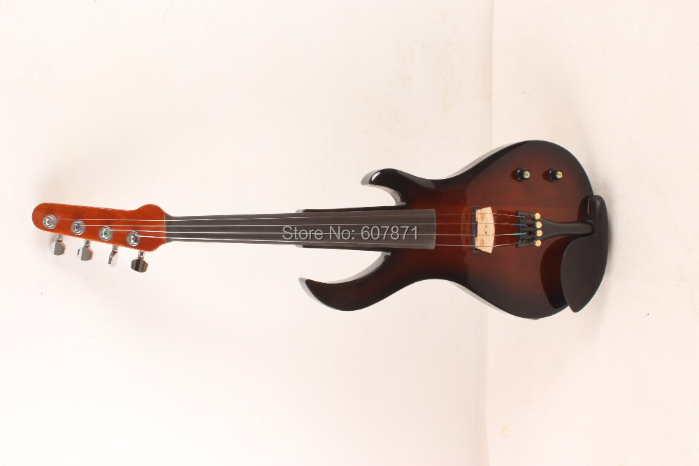 Big Jack up New 4/4 Electric Violin   brown one 4 string 4 4 violin electric violin acoustic violin maple wood spruce wood big jack brown color