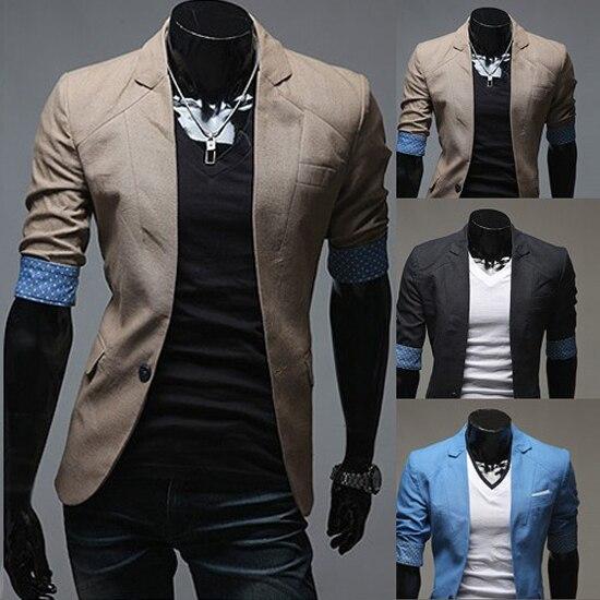 3f15d853d02 2015 Fashion Spring fall Brand Mens Blazer Jacket Coats