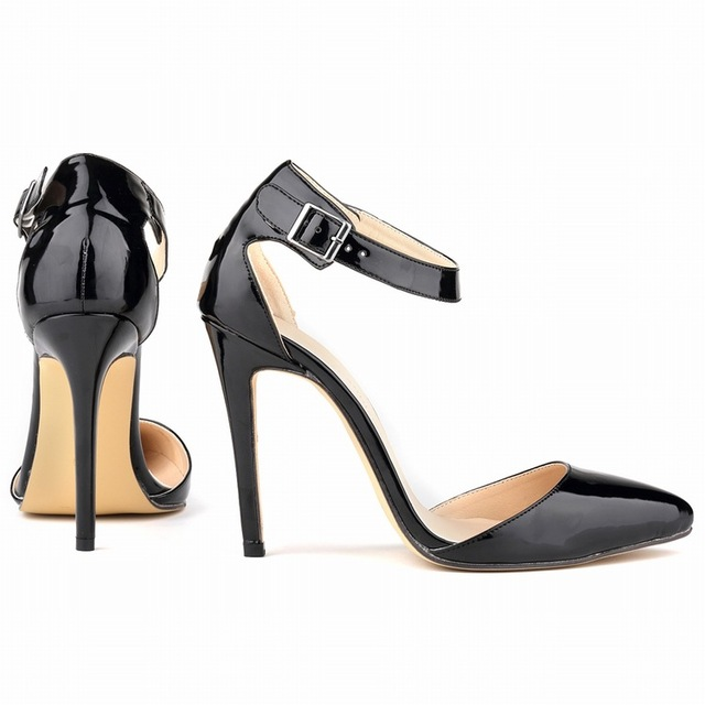 European and American fashion dew-toe high-heel women sandals, Black,35