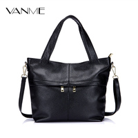 Tote Bags Female Handbags First Layer of Leather Europe and America Simple Style 2017 Autumn&winter Shoulder Bag Big Leather Bag