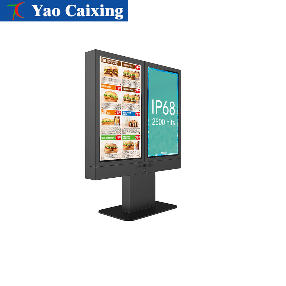 Column Type Advertisement Outdoor Video Full Color LED Display Screen