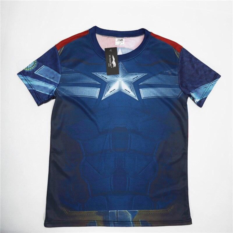 Batman Spiderman Ironman Superman Captain America Winter soldier T shirt Avengers Costume Comics Superhero mens 118