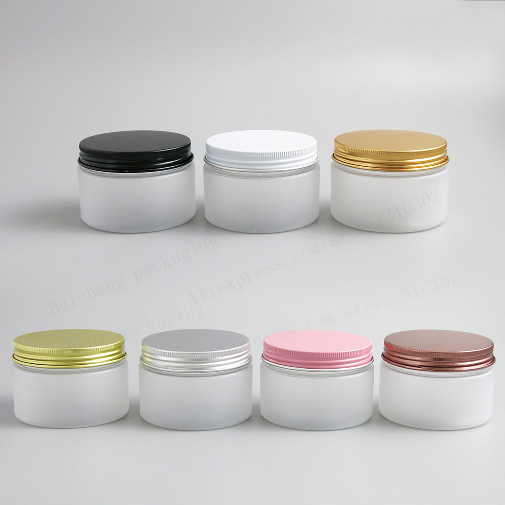 120g Empty Frost Pet Cream Jar 4oz Make Up Plastic Jar Cream Bottle With Aluminum Cap Cosmetic Container Packaging