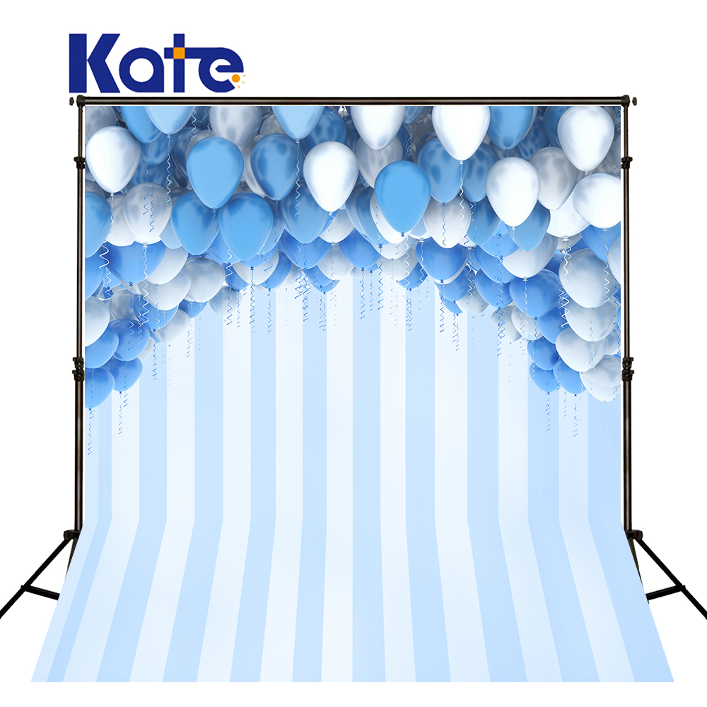 KATE Photography Backdrops Balloon Background Backdrop Blue Children Birthday Photos Children Photo Background for Photo Studio photo background blue sky white clound photography backdrops newborn hot air balloon fly studio photo backdrop