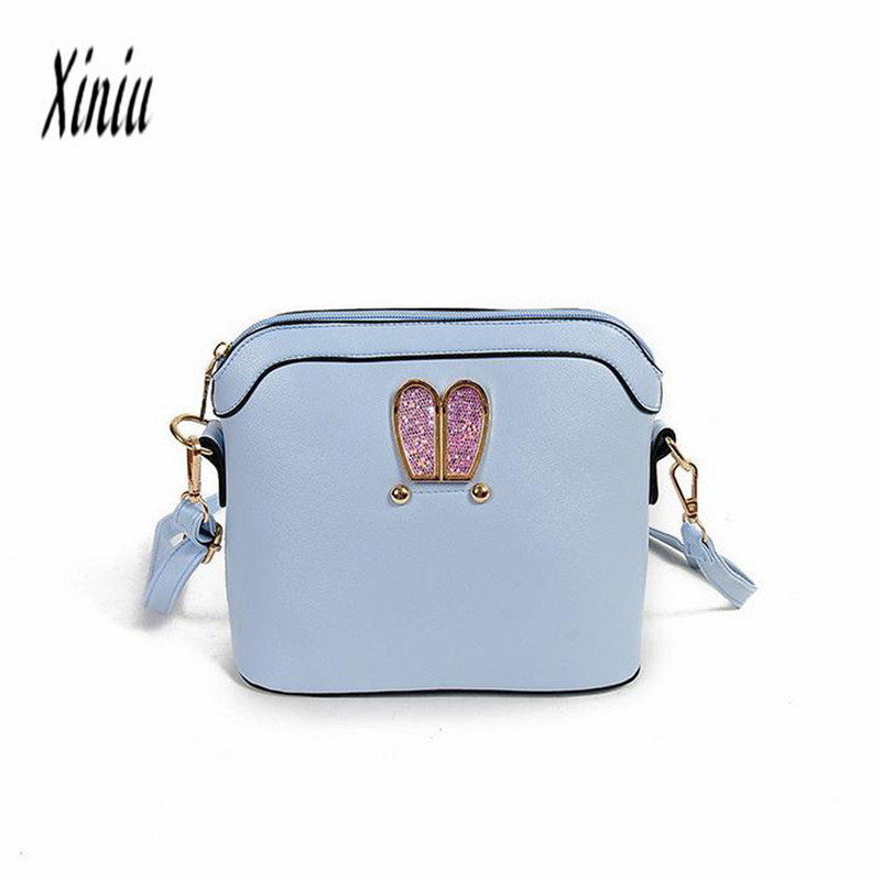 Women Girl Rabbit ears sweet cameo shell Handbag Shoulder Messenger Bag  Female Tote Bag Fashion Mulheres Bolsa Top Brand Sacos-in Shoulder Bags  from Luggage ... 5e763693fc0ff
