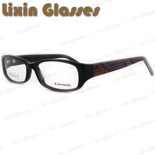 Black full frames with Geometric temples clean lens Glasses Frame Eyeglasses Optical Frame Eyewear 27BG23016 C2