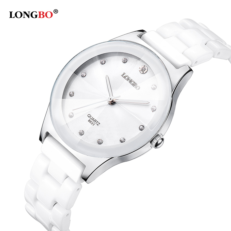 2016 New Luxury Brand LONGBO Mens Women Ceramic Watch &