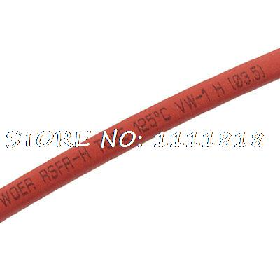 200M 3.5mm Dia. Heat Shrinkable Tube Shrink Tubing Roll Red 1mm dia heat shrinkable tube shrink tubing red 20m