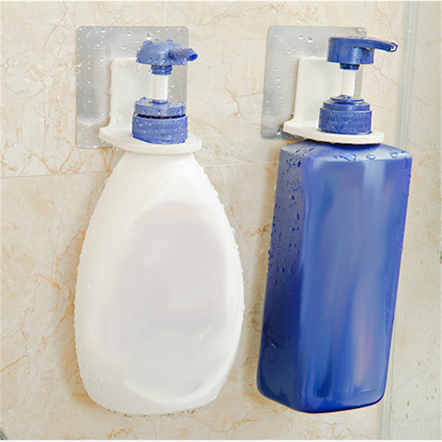 New Hot Magic Sticky Shampoo Organizer Rustproof Bathroom Wall Mounted Hook Repeat Use Shower Hand Soap