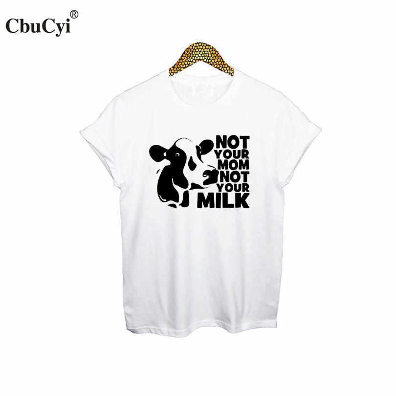 34ab9ffd716 ... CbuCyi Animal Rights T Shirt Women Vegan Shirt Not Your Mom Not Your  Milk Tee Shirt ...
