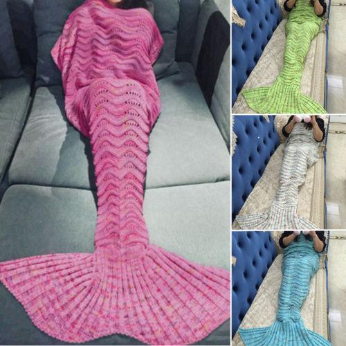 Mode Hot Mermaid Schwanz Häkeln Decke Meerjungfrau Decken Für
