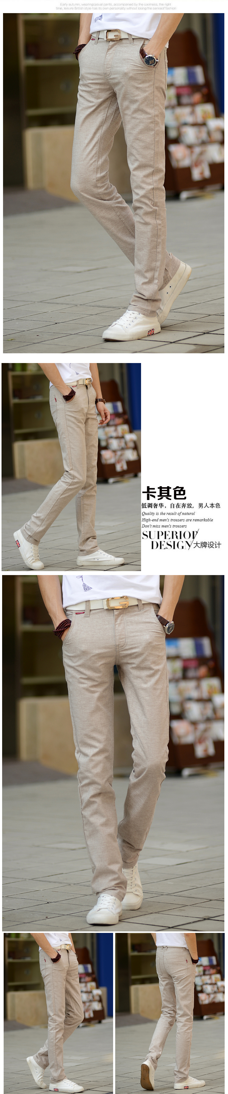 HTB1MLDqhER1BeNjy0Fmq6z0wVXaX 2019 New Men Fashion Summer Korea Slim Fit Straight Linen Cotton Thin Business Trousers Pants Male Casual Pants Import Clothes