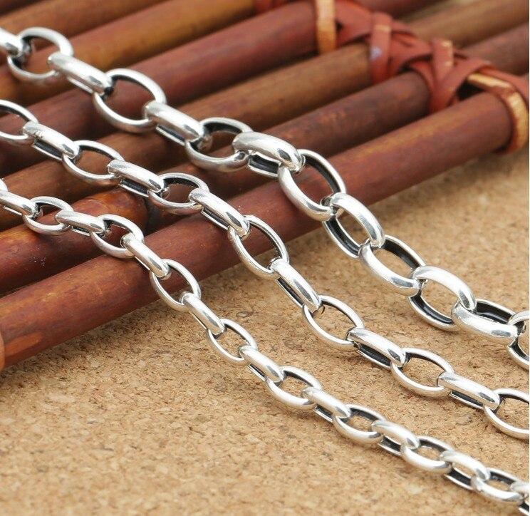 【S925 ювелирные изделия из серебра 4 мм эллипса пряжки ...