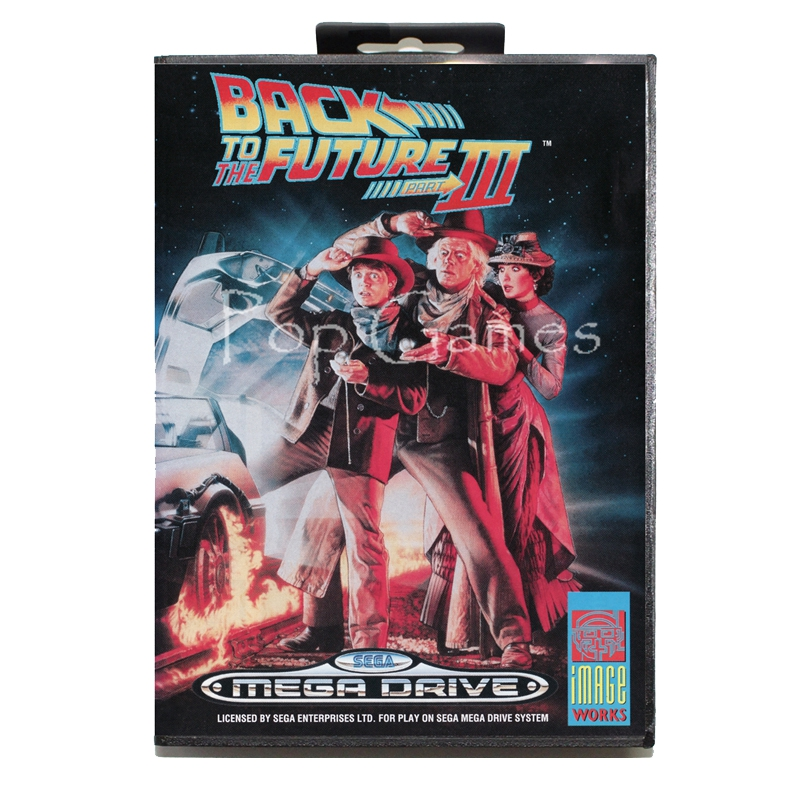 Back to the Future 3 with Box with Box for 16 bit Sega MD Game Card for Mega Drive for Genesis Video Console