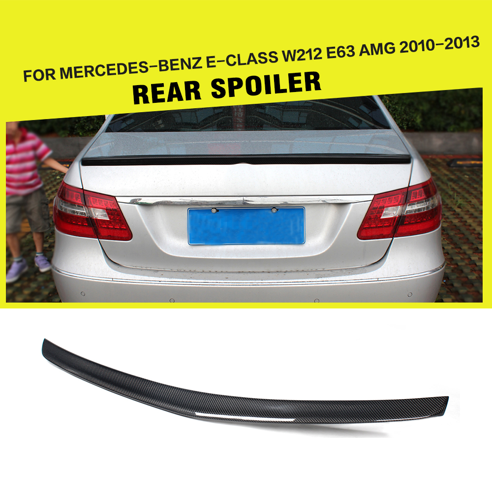 Углеродное волокно Авто Задняя накладка на багажник загрузки губ крыла для Benz W212 E200 E260 E300 седан 2010-2013