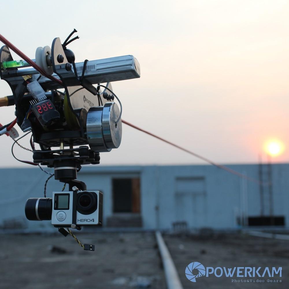 POWERKAM Negro T 1.5 cablecam wirecam linecam rc equipo de tiro para GOPRO HERO