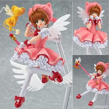 NEW hot 15cm CARDCAPTOR SAKURA TSUBASA KINOMOTOSAKURA collection mobile action figure toys Christmas toy