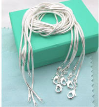 Wholesale 925 Sterling Silver Chain Women Men Necklace 16''-24'' New Lot Jewelry Party Favors(China)
