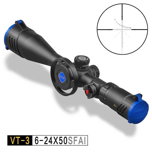 Discovery VT-3 6-24X50 SFAI FFP First Focal Plane Airgun Hunting Rifle Scope Optic Shooting Riflescope With Free Scope Mount