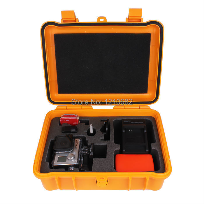 Middle size collection box safety equipment Waterproof case for xiaomi yi Bags GoPro Hero 5 4 3+ 3 2 sj5000 sj4000 Accessories new gopro accessories shockproof waterproof collection double box hard bag tools storage hero 4 3 3 2 1 sj4000 sj5000 sj6000