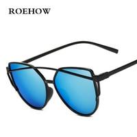New Brand Sunglasses For Women Glasses Cat Eye Sun Glasses Male Mirror Sunglasses Ms Glasses Female Vintage Gold Glasses UV400