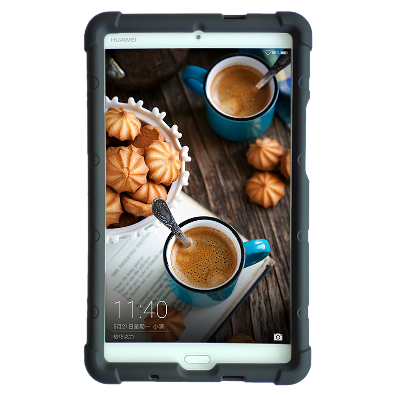 MingShore For Huawei M3 Tablet PC Silicone Cover Case 8.4-inch BTV-W09 / DL09 Flat