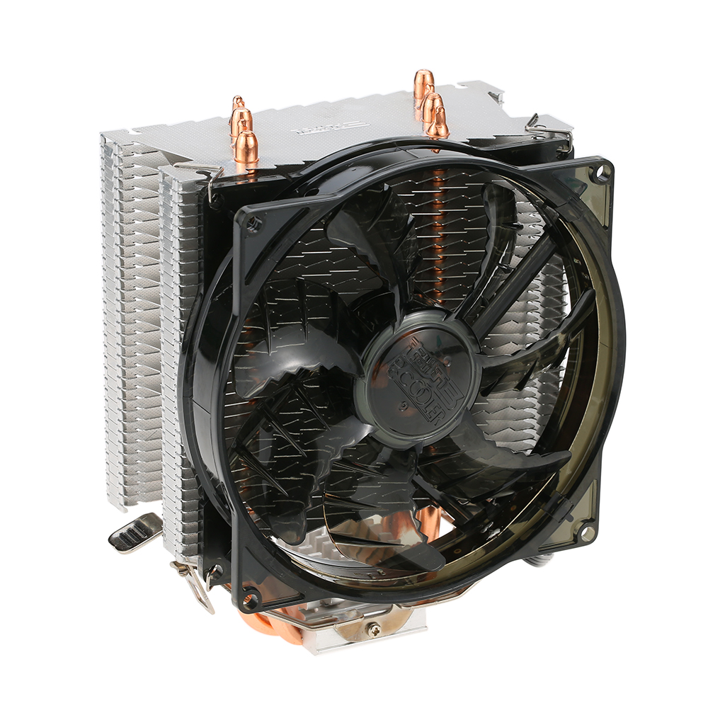 PCCOOLER 4 Heatpipes Radiator Quiet 4pin CPU Cooler Heatsink Fan Cooling with 120mm Fan for AMD 754/939/940/AM2/AM2+/AM3/FM1/FM2 2 heatpipes blue led cpu cooling fan 4pin 120mm cpu cooler fan radiator aluminum heatsink for lga 1155 1156 1150 775 amd