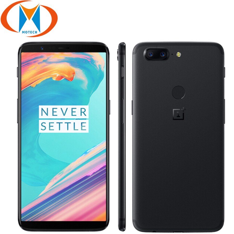 "Global Firmware New Oneplus 5T 8GB RAM 128GB ROM Mobile Phone Snapdragon 835 Octa Core 6.01"" Fingerprint NFC 4G LTE 20MP Phone"