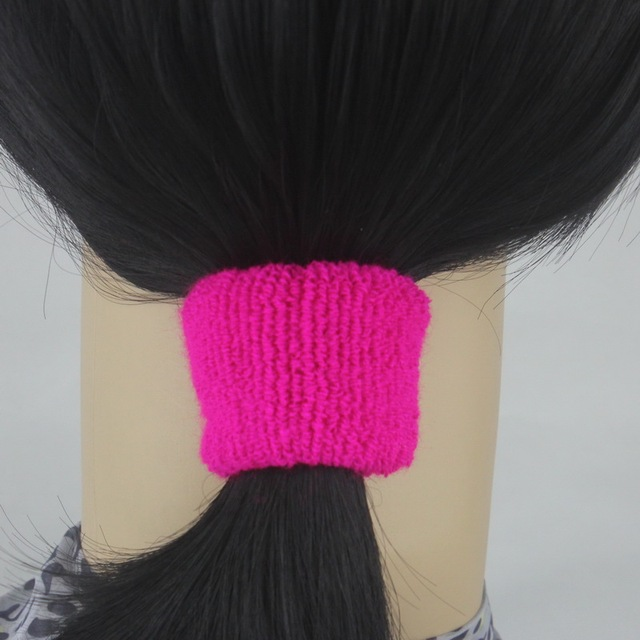 isnice Top Quality Elastic Towel Hair Bands Rubber Ponytail Holder Thick  Plush Wide Knitting Hair Rope Girls hair accessories abb176219e4