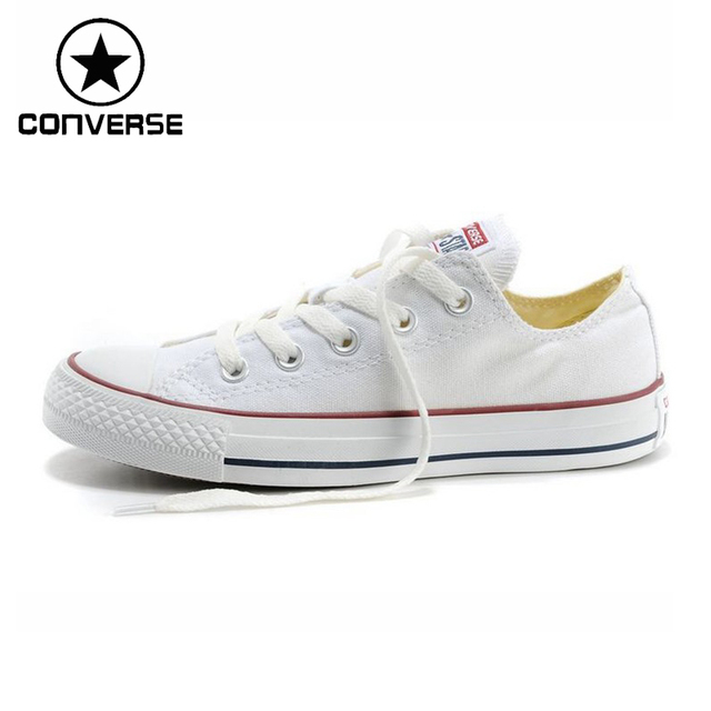 Original New Arrival 2018 Converse Unisex Classic Canvas Skateboarding Shoes Low top Sneakser