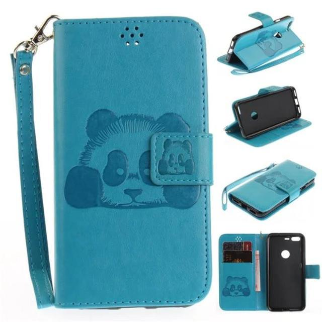buy popular b6801 00c4e US $3.77 16% OFF|New 3D Embossing Panda Design Case For Google Pixel Stand  Card Slot PU Leather Wallet Soft Cover For Google Pixel XL With Strap-in ...