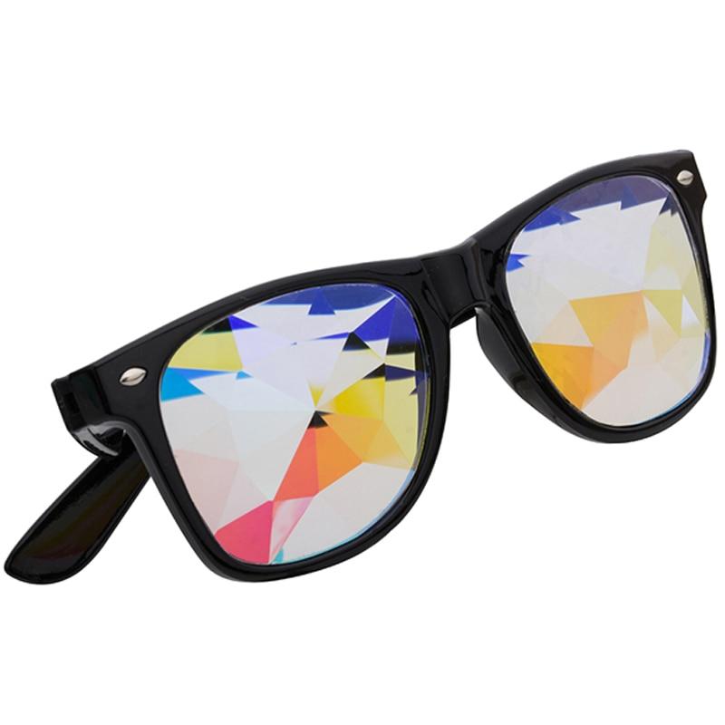 5feaa4c212 FLORATA Kaleidoscope gafas de sol de lujo de mujer Rave Festival Fiesta EDM  gafas de sol al aire libre lente difractada Oculos de sol