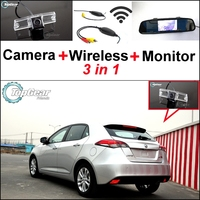 3 in1 Special Rear View Camera + Wireless Receiver + Mirror Monitor Easy DIY Back Up Parking System For Morris Garages MG5 MG 5