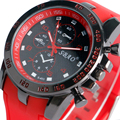 Fashion Cool Wrist Watch Men Army Watches Quartz Casual Hour Red Silicone Band Gift for Mens Boy W190106