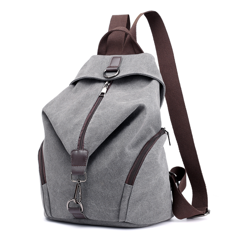 Casual Canvas Women Backpack Solid Large Capacity Female Backpacks Brand Designer Zipper Travel Bag Girl School Backpack PurseCasual Canvas Women Backpack Solid Large Capacity Female Backpacks Brand Designer Zipper Travel Bag Girl School Backpack Purse