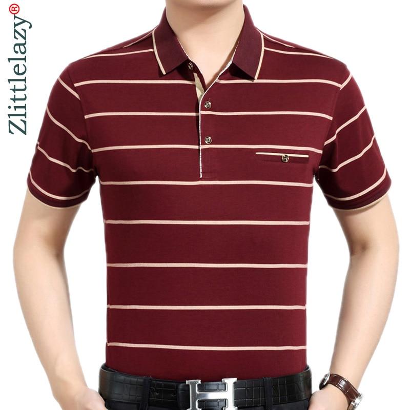 Angemessen Sommer Polo Shirt Männer Kurzarm Polos Shirts Gestreiften Slim Fit Herren Pol Kleidung Kleid Bodybuilding Streetwear Polo 3061 Mutter & Kinder